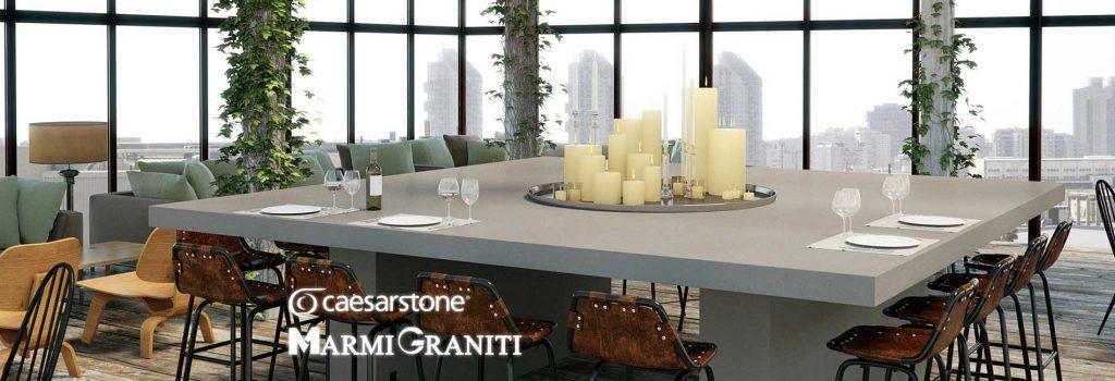 Χαλαζίες Κουζίνας Επαγγελματικοί Caesarstone Marmi Graniti